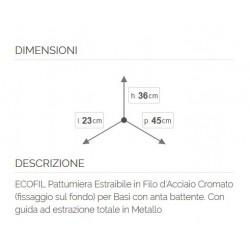 Elletipi ECOFIL PF01 34A2 Pattumiera Differenziata Estraibile per Base Grigio...